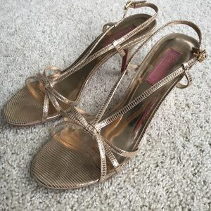 Lilly Pulitzer gold sandals sz 8.5
